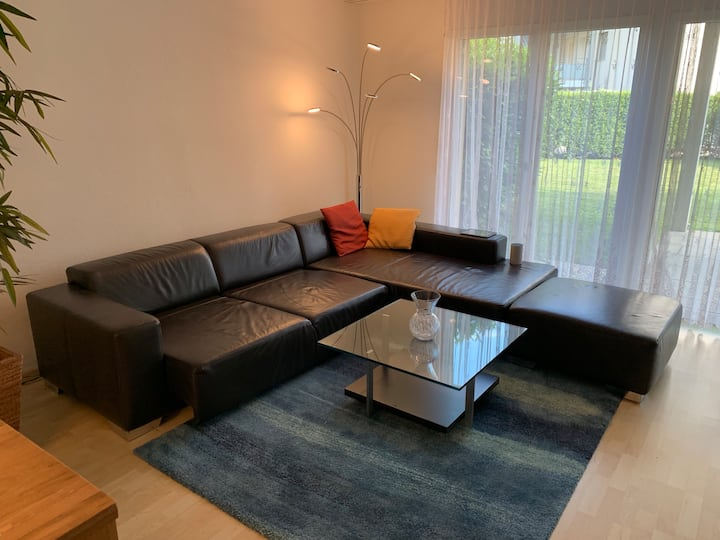Big Leather Sofa +Mattress in Big Living Room
