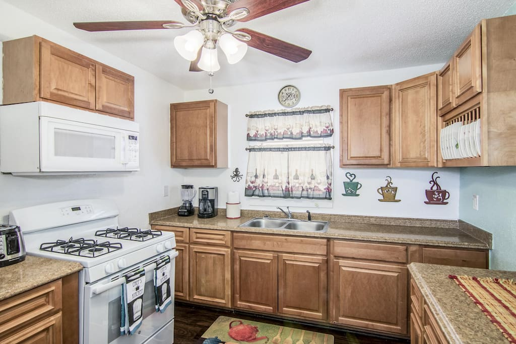 Kitchen with New Gas Stove/Oven