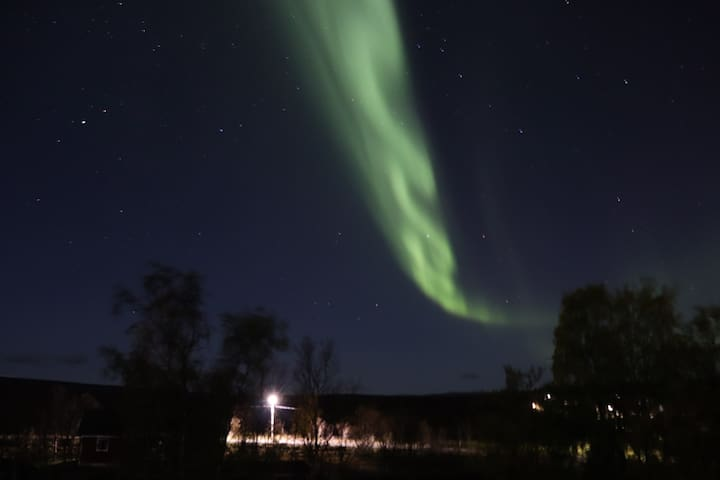 Northern lights seen from the property 1