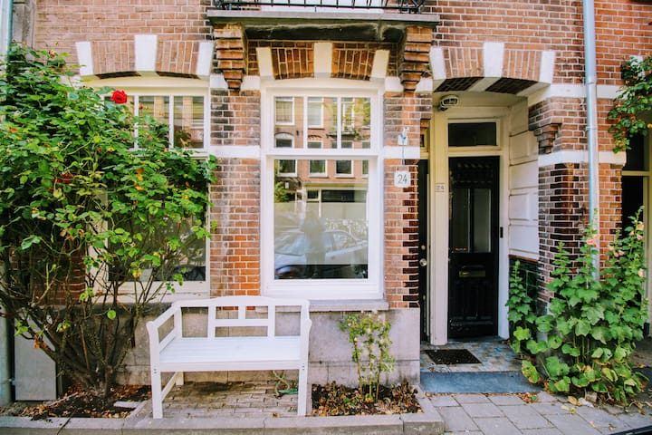 Charming apartment & garden in Amsterdam Oud-West