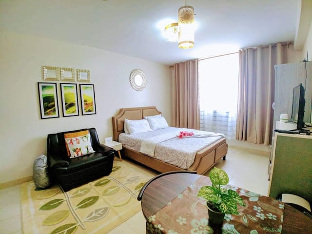 Comfy studio near Airport and Mactan Beaches