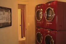 Washers and dryers.  We have 5 sets total.