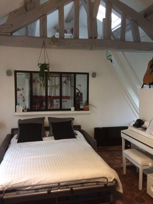 Salon-Canapé lit ouvert