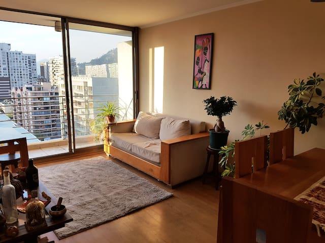 Cómoda habitación Vista de Santiago Lugar céntrico