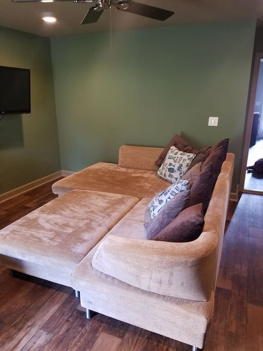 Huge, comfy couch to lounge on!  A favorite of my repeat visitors!