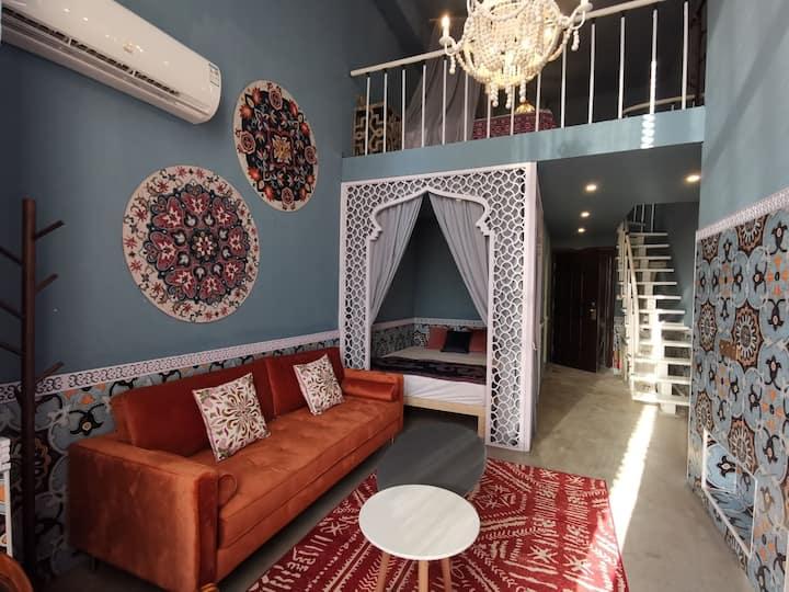 【梅森魔法公寓】摩洛哥幻想/龙城大街/ins拍照/loft艺术公寓/近太原机场、火车站、万象城/做饭