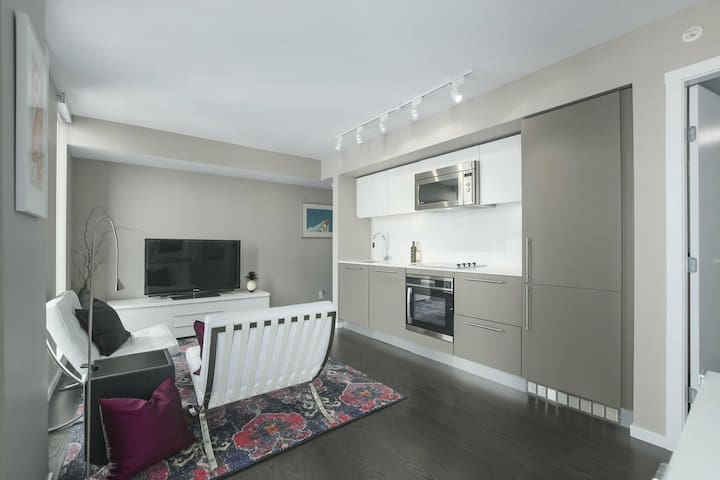 Designer luxurious Suite Central Downtown+Netfli