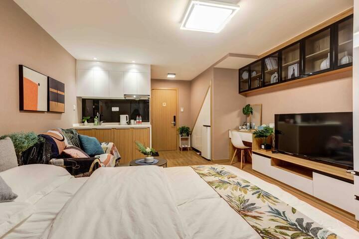 【遇•见】楼下影院商场/近地铁5号线/万科酒店公寓/可做饭