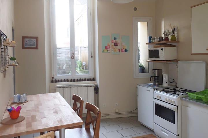 Appartement Cosy 4 personnes avec cour privée