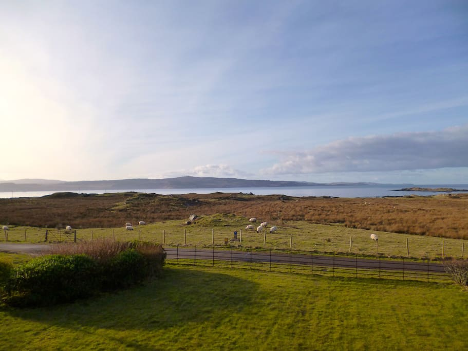 Looking out, towards Mull.