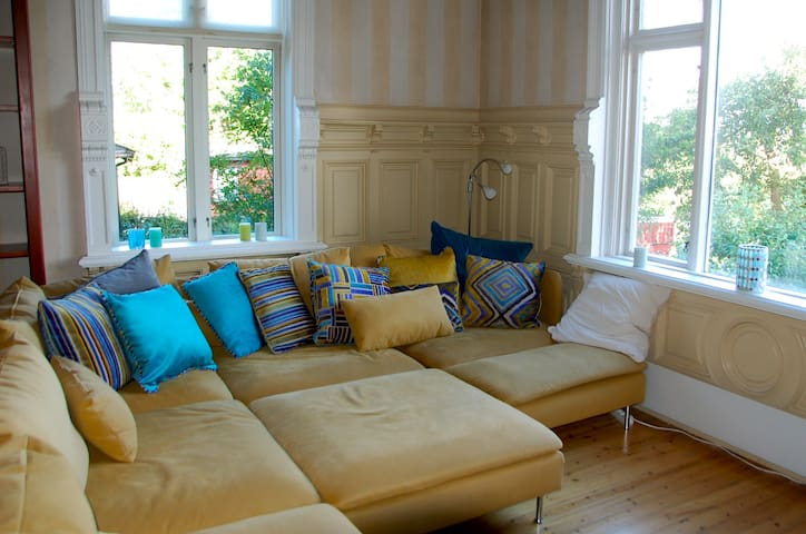 Huge sofa... can be used as extra bed/beds if necessary