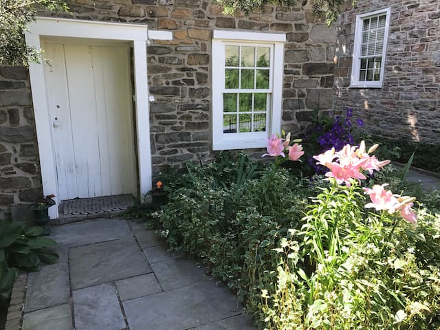 Mid-June Blooms, Asiatic lilies and purple Clematis