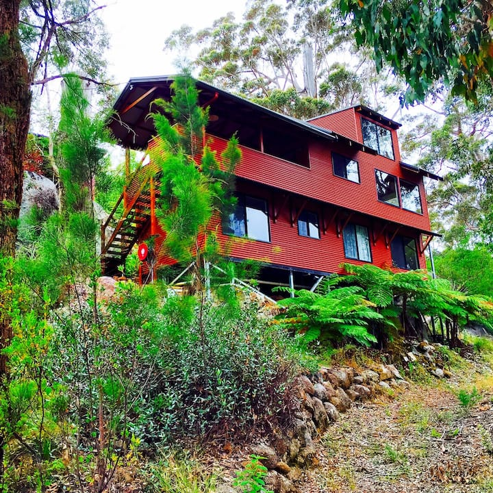 Forest Hideaway Overlooking Ocean 5 mins from Town