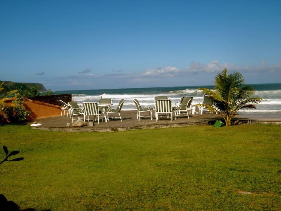 Jardim deck praia