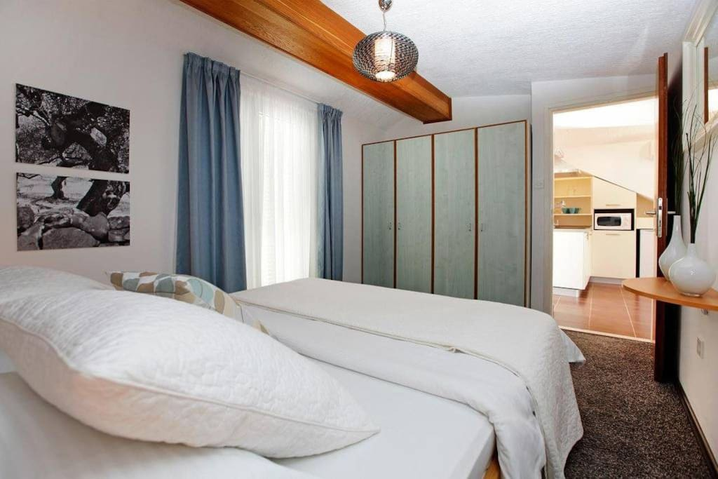 master bedroom with double bed