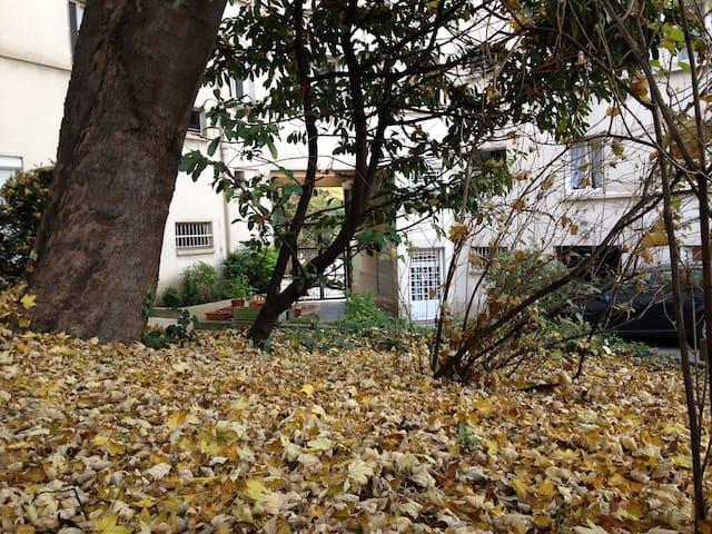 Jardin intérieur de l'immeuble