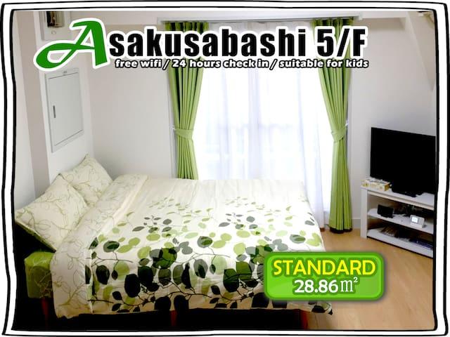 #06 BEST VIEW! BRIGHT ROOM FOR 4! - Taitō-ku - Leilighet