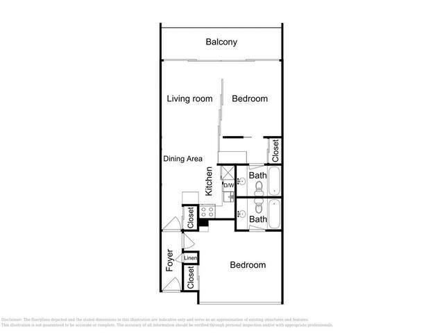 The unit's floor plan