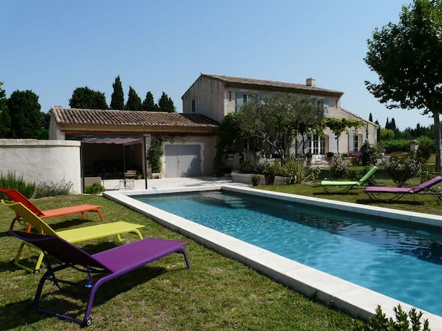 LS1-231 - Beautiful house with heated pool in the Alpilles in Saint Remy de Provence - Pretty view - sleeps 8