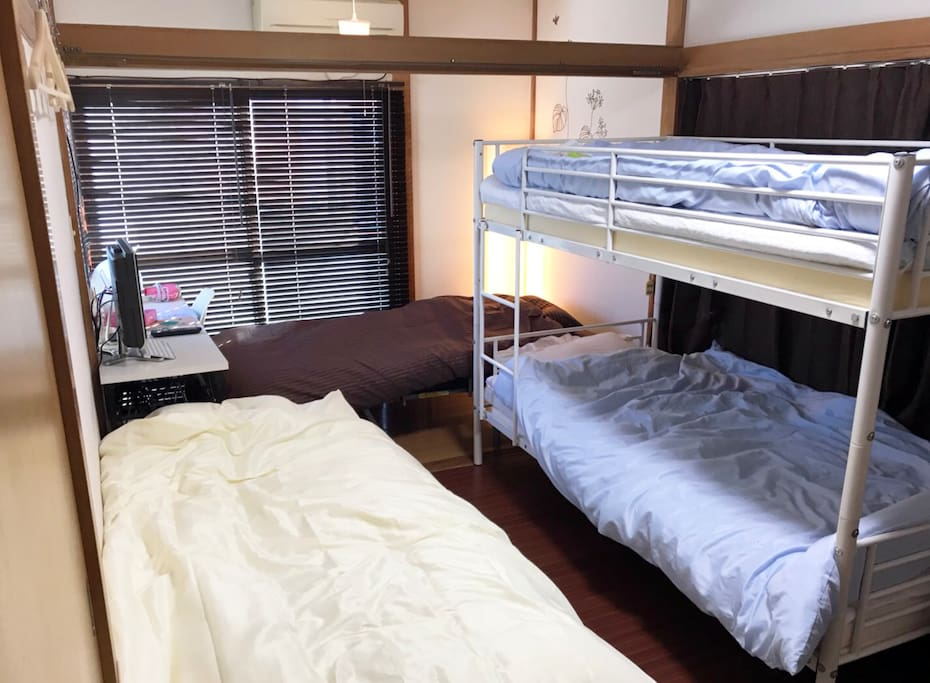 Bunk bed + 2 sofa beds. Bed for MAX 4 people