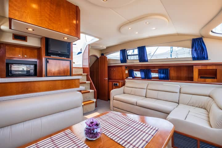 Nice boat with terrace