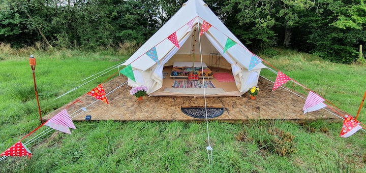 Bell Tent stay in countryside small farm