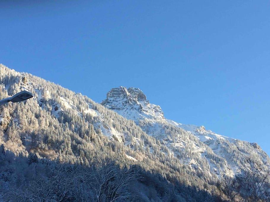 Die winterliche Umgebung von Bludenz