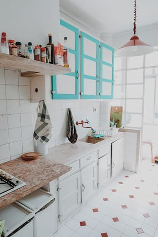 Kitchen - you can use it to cook your own food