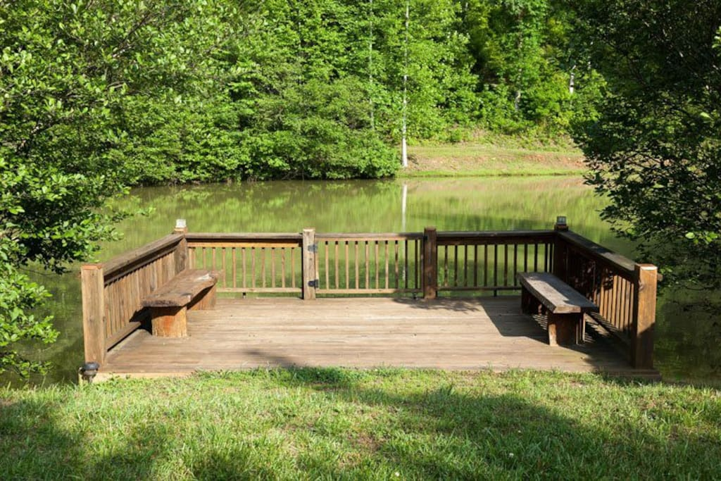 Private dock on your own stocked pond