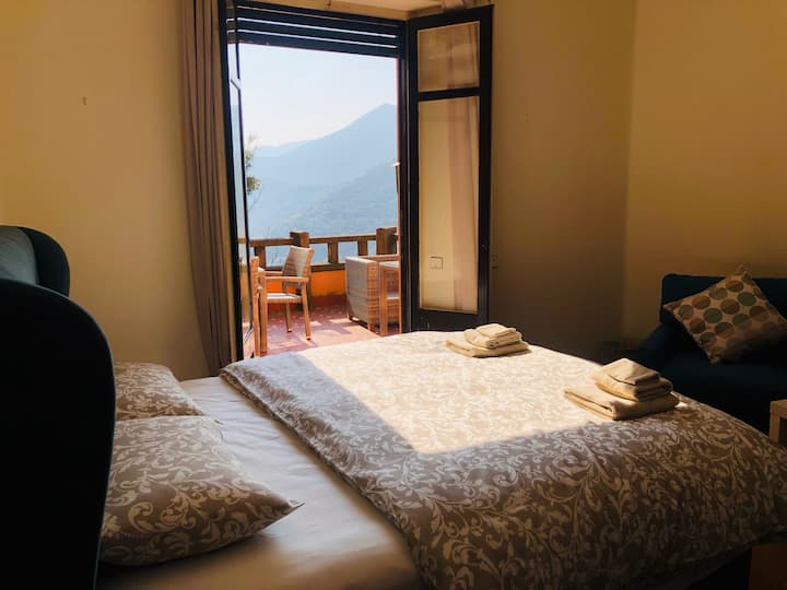 Mountain view room with balcony