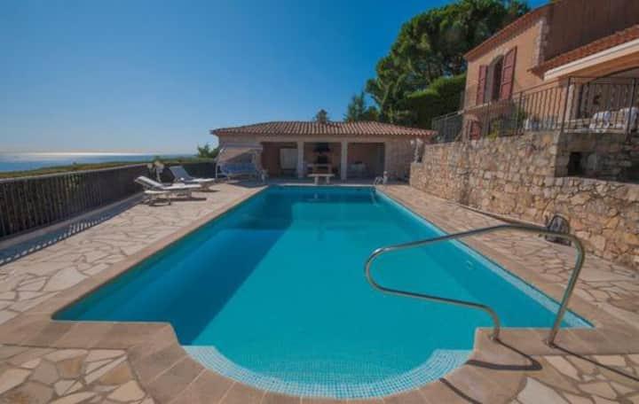 Villa Les Mimosas entre Cannes et Juan les Pins