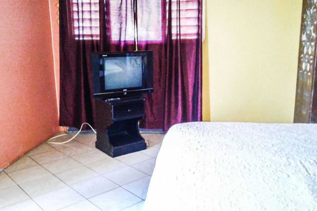flat screen t.v. with cable