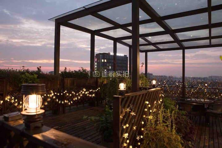 300方杭州西湖·空中花园·市中心·文一路团建、聚会顶层豪宅