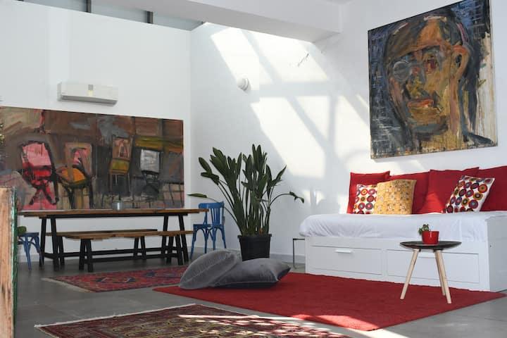 Central Amman Art-Filled Studio