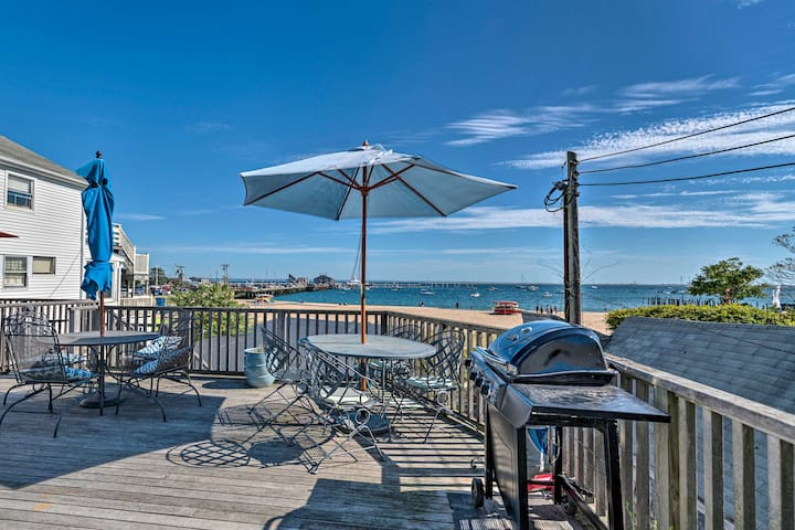 NEW! Beachfront P-town Apt. w/ Shared Deck+Views!
