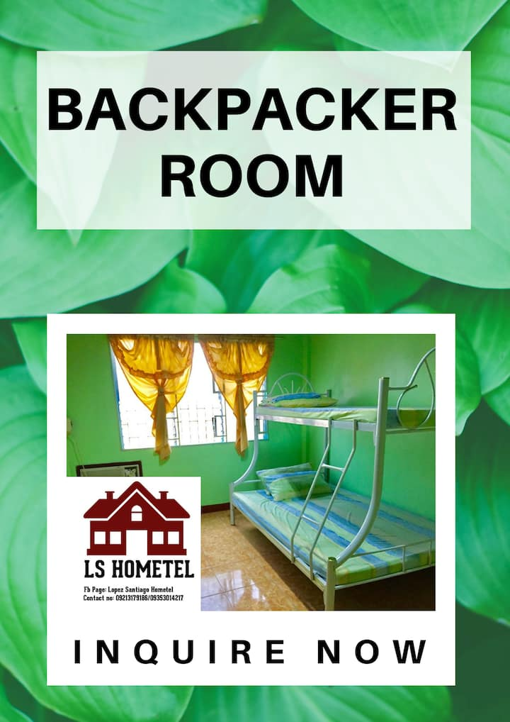 BACKPACKER ROOM (FAN ONLY & SHARING ROOM)
