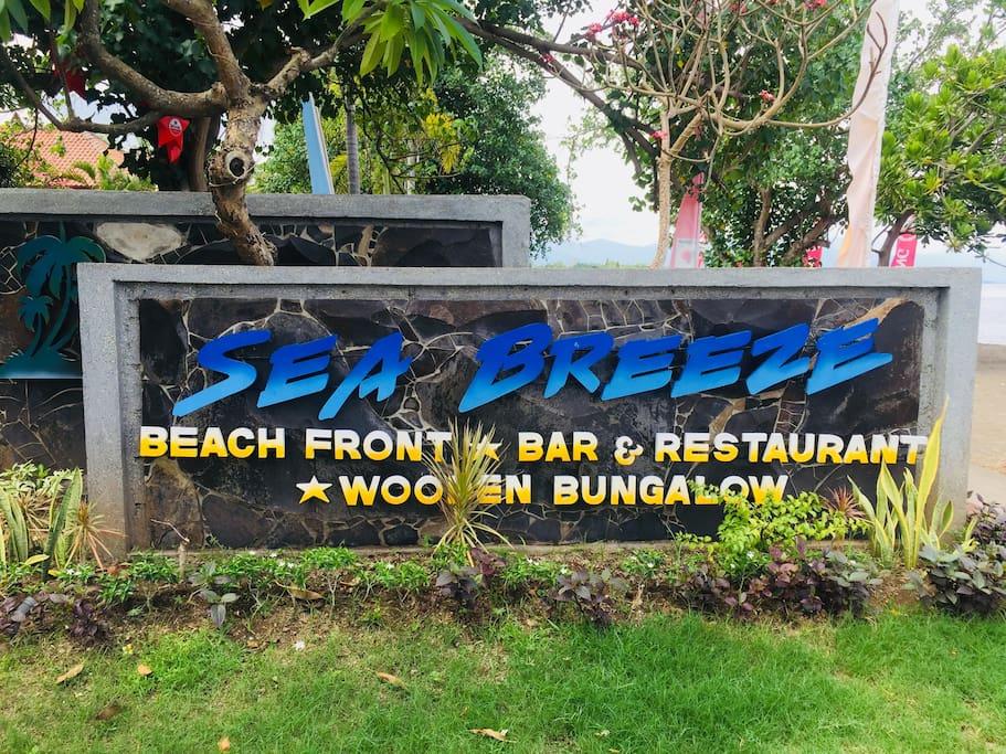 Sea Breeze Sign