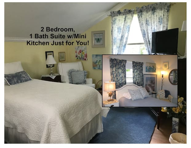2BR 1BA Spacious Guest Suite -- Woods and Water