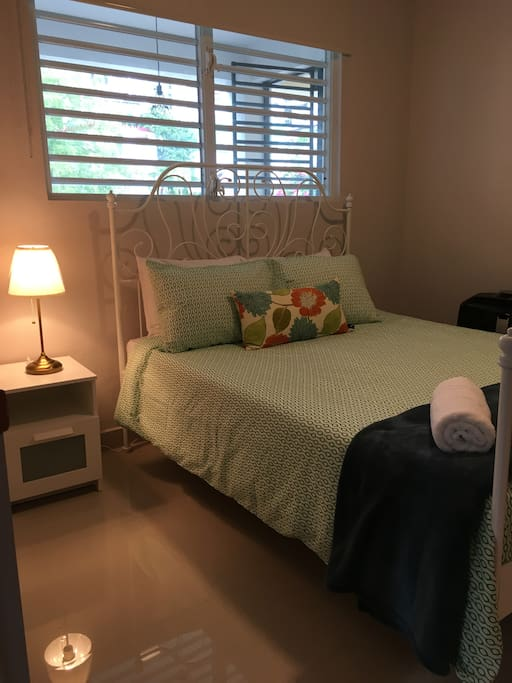One of two private bedrooms with Memory Foam mattress and A/C