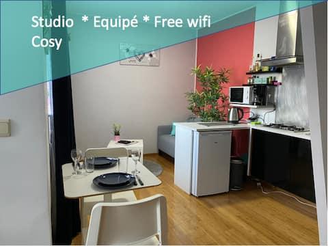 Charmant studio entre l'Atomium et le centre ville