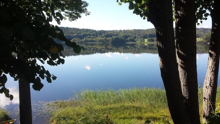 Idyllic lakeside cabin (hytte)