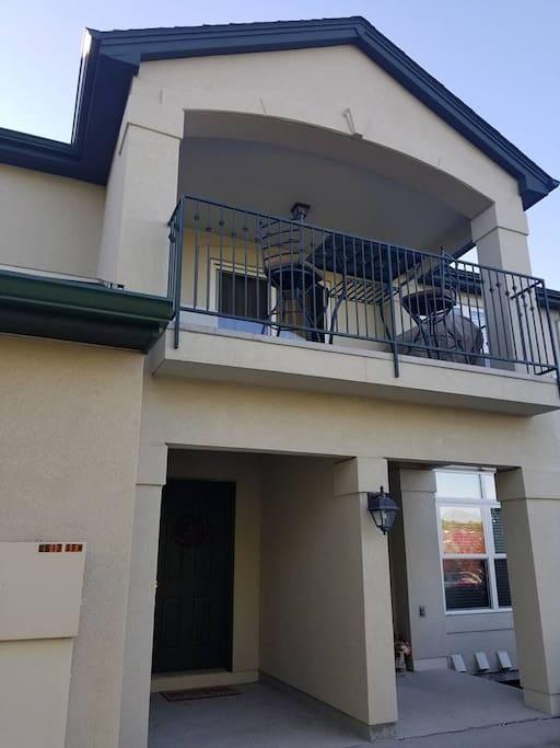 Second Floor balcony with views