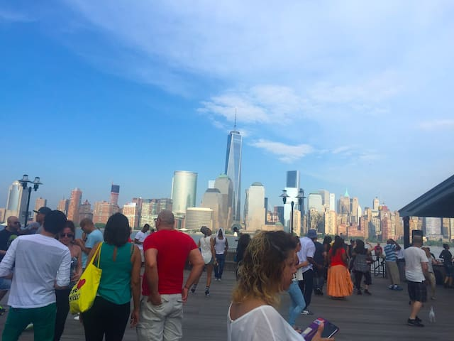 view of NYC from downtown