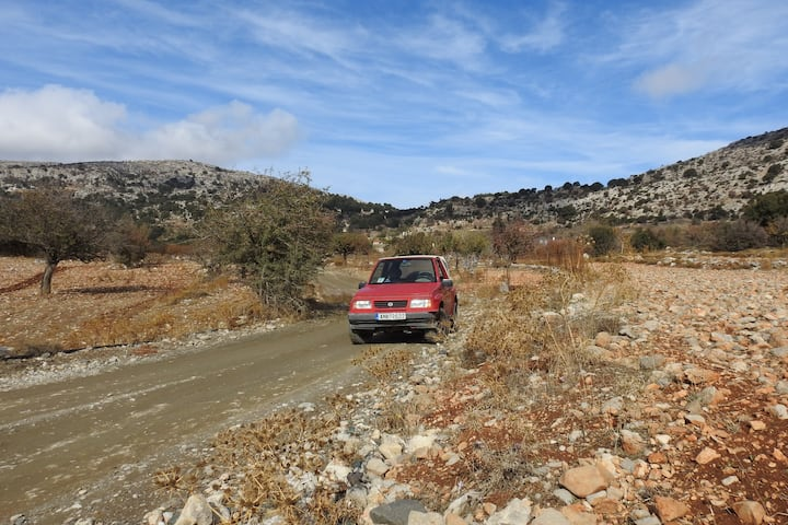 Our jeep in the mountains