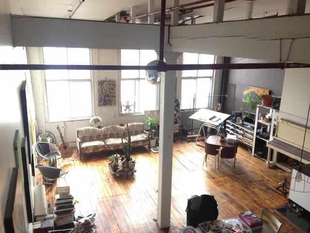 Industrial Cozy Open Loft by the Canal