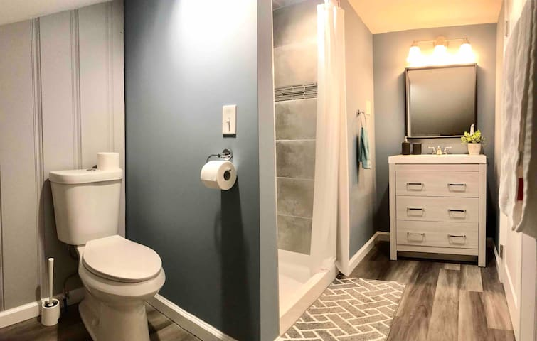Private bathroom upstairs for guests