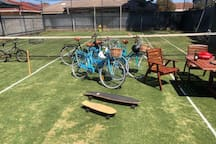 Bikes and Skateboards - fun for all ages at Brighton Beach Retreat