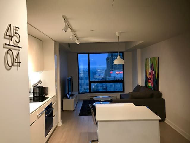 45 Floor (last floor), NEW DT, Tour canadien, View - Montréal - Flat