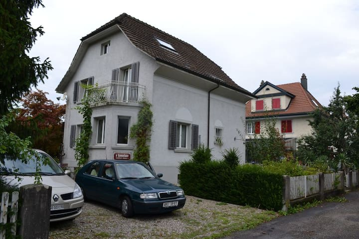 Cozy house with terrace near Aarau - Schönenwerd - Huis