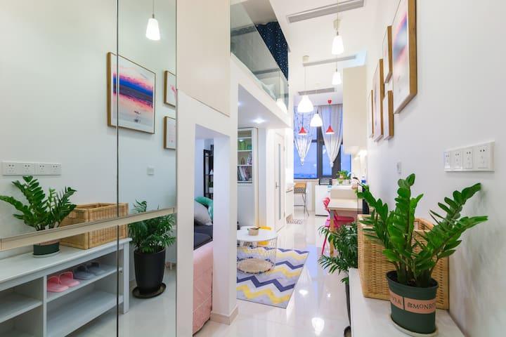 11号线南翔站地铁上盖 整套复式loft公寓 地铁直达迪士尼30分钟徐家汇 20分钟虹桥火车站